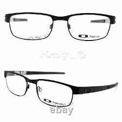 Oakley METAL PLATE OX5038-0555 Matte Black Titanium Eyeglasses New Authentic