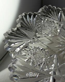 Pair Of Matching ABP American Brilliant Period Cut Glass Small Plates Nice