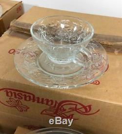 Princess House Fantasia 510, 437, 0429 460 Crystal Glass Plates Dinner Set 27 PC