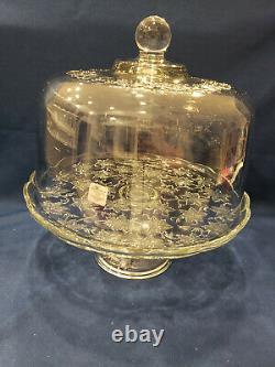 Princess House Fantasia Covered Cake Plate, NIB! #5201 / #5202