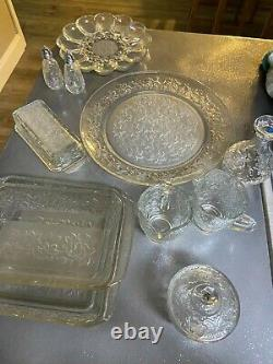 Princess house fantasia glass wear clear