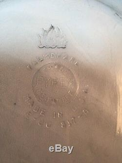 Pyrex Misprint Clear Blue Flameware Plate Printed Falmware Rare, HTF