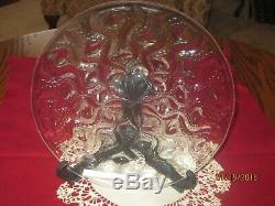 R. Lalique Signed BULBES #3037 Clear Plate (27 cm) 1935