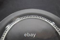 R Rene Lalique Crystal France Bourgueil Salad Plates 8 1/4 D Set of 11