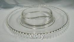 RARE Imperial Glass Candlewick 400/228 14 Chip and Dip Plate