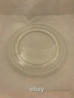 RARE Imperial Glass Candlewick Birthday Cake Plate Platter 72 Candle Holes