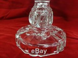 RARE Original U. S. Glass 1893 Pedestal Cake Plate American Coin Clear Variety