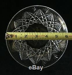 RARE! St Saint Louis FLORENCE pineapple cut (Set of 4) Crystal Plates 6 EUC