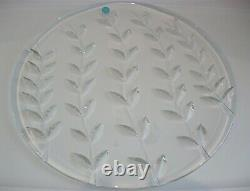 RARE Tiffany & Co. Crystal Hand Cut Floral Vine Pattern Platter Cake Plate Tray