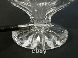 RARE Vintage WATERFORD CRYSTAL Cut Glass Silver Plate Footed Claret Decanter 13