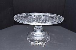 RARE Waterford Crystal Alana Footed Cake Plate Serving piece 10 SIGNED