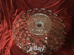 Rare FOSTORIA GLASS AMERICAN 17 PEDESTAL Fruit Stand Bowl Plate Salver