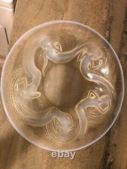 Rare Renee Lalique Vintage Opalescent Calypso Plate
