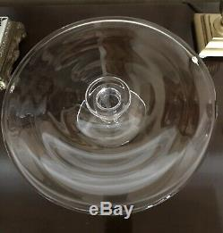Rare SIMON PEARCE Hartland Hand Blown Glass Pedestal Cake Plate Signed MINT