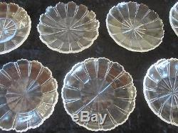 Rare Set 15 Late Georgian Early Victorian Molded Cut Glass Plates 19th C Glass