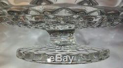 Rare VTG FOSTORIA GLASS AMERICAN 16 3/8 PEDESTAL Fruit Stand Bowl Plate Salver