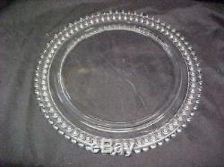 Rare Vintage 13.5 Imperial Glass Candlewick Birthday Cake Plate 72 Candles