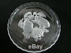 Rare Vintage Signed VAL SAINT LAMBERT Crystal 6 x Wine Coaster, Plate & Bowl