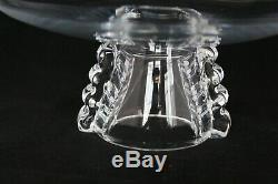 Rare Vintage Steuben Glass MCM Cake Stand Tazza Footed Plate Compote 10 3/8
