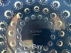 Rene LALIQUE 1935 Set of 12 ASTERS Clear & Opalescent Dinner Plates 10 3/4