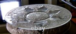 Rene Lalique 1921 Large Vases Plate Nr. 2. Brown Patina with Losses. 11. Good