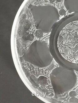 Rene Lalique 1921 Original VASES Coupe Plate Clear And Frosted Glass
