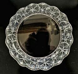 René Lalique Crystal HONFLEUR GERANIUM PLATE Signed 8 3/8