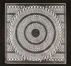 Rene Lalique France Rare Hobnail Glass Square Plate