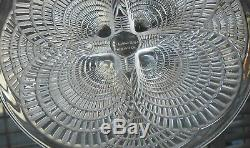 Rene Lalique French Art Glass 6 3/8 Vintage Clear Crystal Coquilles Shell Plate