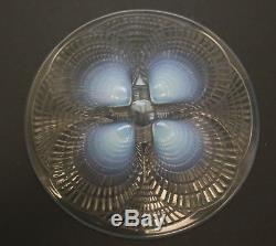 Rene Lalique French Art Glass Coquilles 7.75 Diameter Plate, Signed