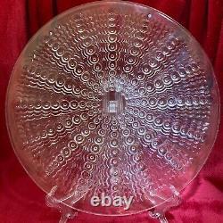 Rene Lalique Oursins sea urchin pattern clear glass plate model 10-3041, 1935