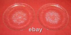 SET 2 Vintage IITTALA ULTIMA THULE 9.75 CLEAR GLASS PLATES Tapio Wirkkala VGC
