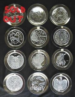 SET of 11 Lalique France Crystal Annual Collector Plate Set 1966 1976