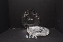 SET of 4 VINTAGE WATERFORD CRYSTAL ALANA 8 LUNCHEON PLATES IRELAND SIGNED