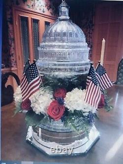 SHANNON Godinger Crystal DUBLINCAPITAL DOME Cake Plate 2pc. RARE Retired