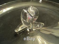 STEUBEN Crystal Mid-Century CANAPE Plate Serving Tray