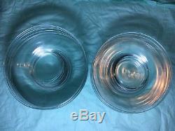 STEUBEN Glass 7 Salad / Cake Plates set of 14 full script signature c1950s