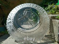 Scarce Sir Moses Montefiore Victorian Pressed Glass Plate 26cm