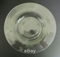 Set 11 Steuben Crystal Glass 8.5 Salad Luncheon Dessert Plates with RARE Monogram