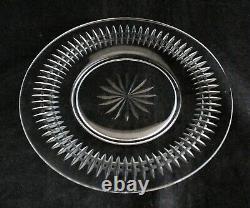Set 12 Vintage Tiffin Cut Glass Crystal Waterford Pattern Salad Plates