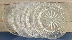 Set 4 Waterford Lismore Irish Crystal 8 Accent Salad Cake Plates FREE US SHIP
