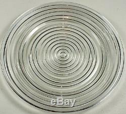 Set Five Vintage Anchor Hocking Fire-King Manhattan 10 Dinner Plates Circa 1940