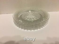 Set Of 4 Hawkes (Signed) Cut Glass 8 5/8 Wide Plates