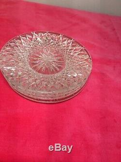Set Of 4 VINTAGE WATERFORD CRYSTAL ALANA 6 BREAD & BUTTER PLATES IRELAND