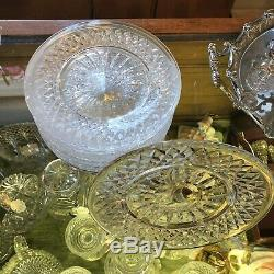 Set of 13 Waterford Lismore Pattern Salad or Dessert Plates Marked and Mint