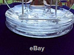 Set of 6 Baccarat, France 7 1/2 Crystal Plates
