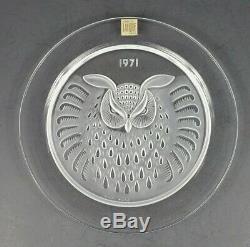 Set of 6 Vintage Signed Lalique Annual Calendar Crystal Plates 1966-1971 MIB
