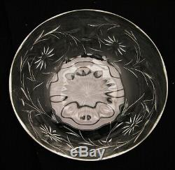 Set of 8 Crystal Cut Glass Desert Cup z Bowl and Under-Plate