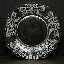 Set of 8 Vintage CAMBRIDGE Elegant Glass CHANTILLY Lunch 8 LUNCHEON PLATE