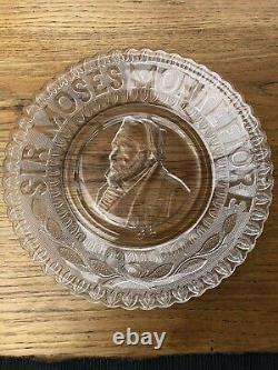 Sir Moses Montefiore Glass Plate Rare